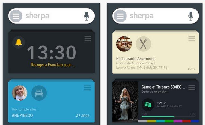 El asistente virtual Sherpa Next para Android debuta con una nueva aplicación para iOS