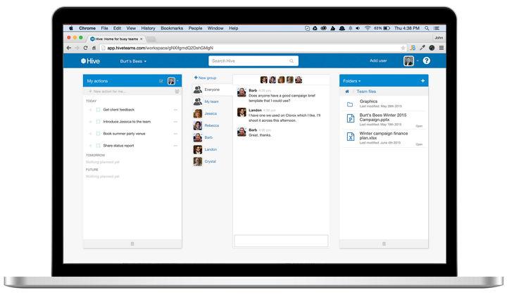 Hive, herramienta web sencilla pero poderosa para trabajar en equipo