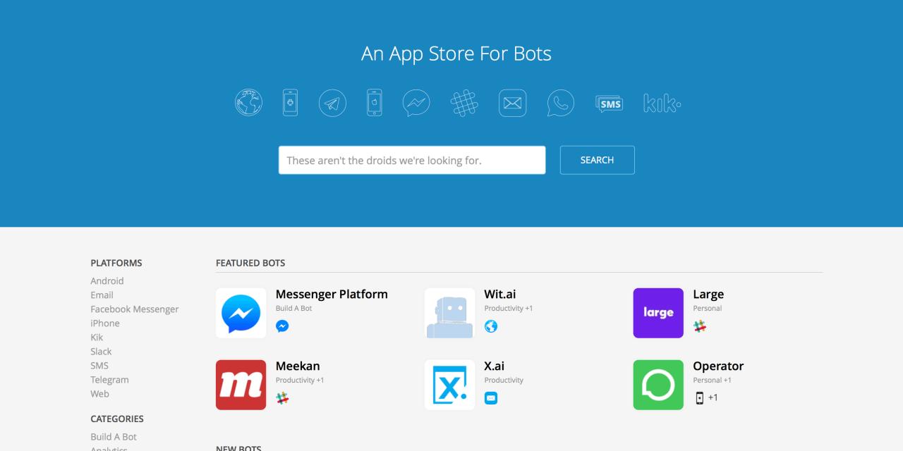 Las apps son del pasado; Los Bots son lo de hoy.