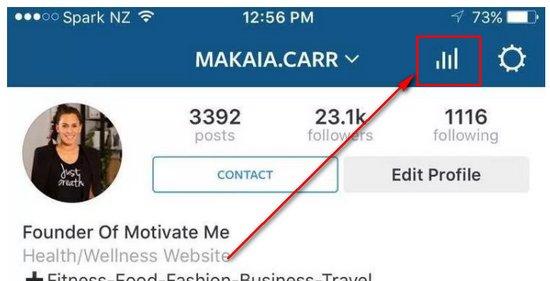 instagram business analytics icon