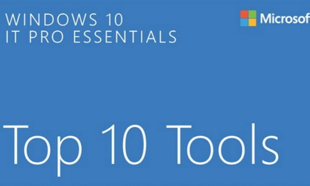 eBook Gratis: Windows 10 IT Pro Essentials: Top 10 Tools