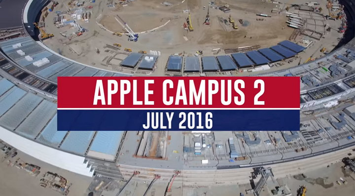 Nuevo y espectacular vídeo capturado con un drone muestra la construcción del Apple Campus 2 (Spaceship)
