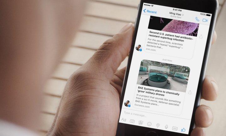Facebook Instant Articles ahora también se pueden ver en Messenger