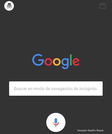 Google Modo de Navegación Incógnito