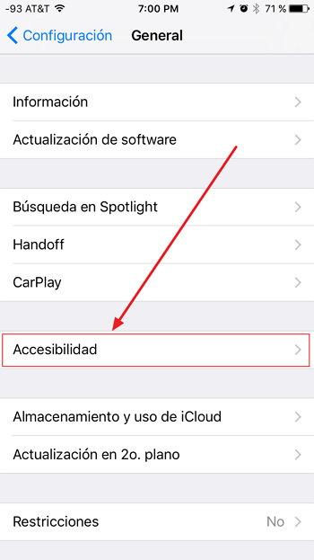 iOS 10 - Accesibilidad