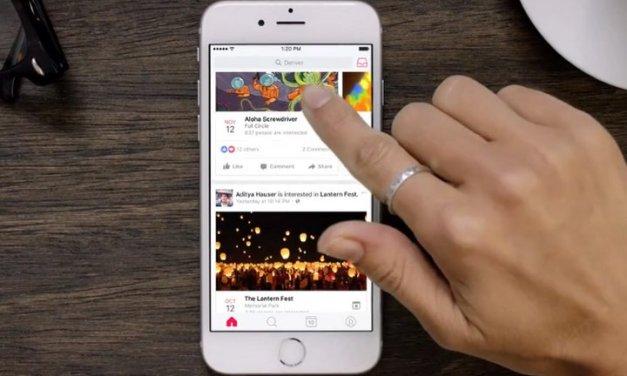Fecebook lanza nueva aplicación móvil para buscar, descubrir y compartir eventos