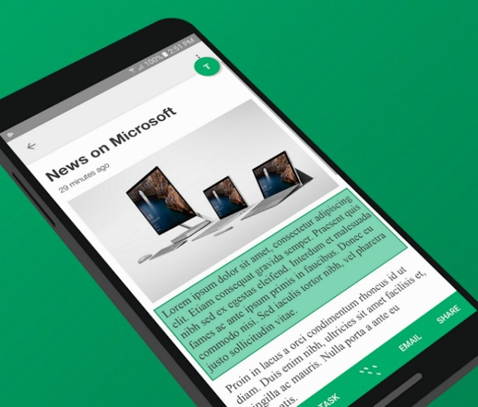 Microsoft Clip Layer Android