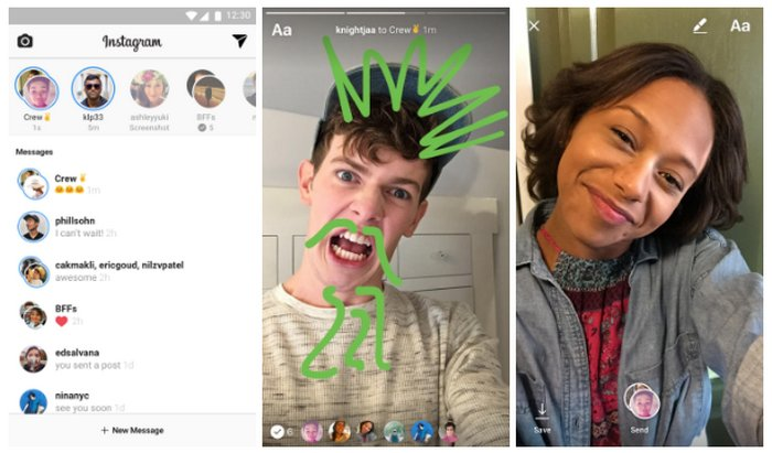 Instagram Direct Fotos y Vídeos Efímeros