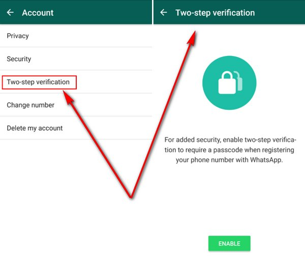 WhatsApp Android Beta - Verificación de Dos Pasos