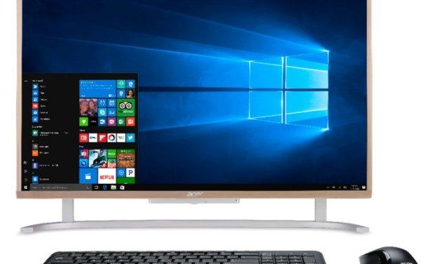 Acer  Aspire C Series, una PC todo en uno (AiO) muy elegante, económica y con Windows 10, Freedos o Linux