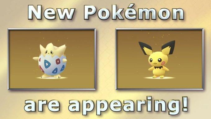Pokémon Go - Togepi y Pichu