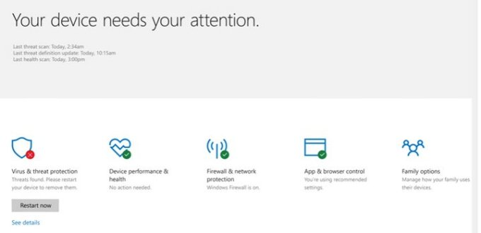 Microsoft - Centro de Seguridad Windows Defender