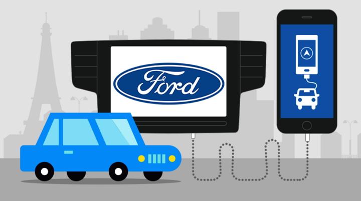 Ford SYNC Applink permitirá usar apps de navegación del smartphoneen la pantalla del vehículo