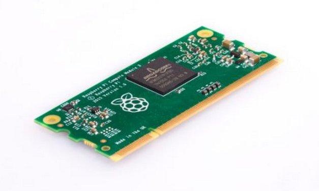Raspberry Pi lanza el Módulo de Computación 3 con 10x más rendimiento de CPU y el doble de RAM