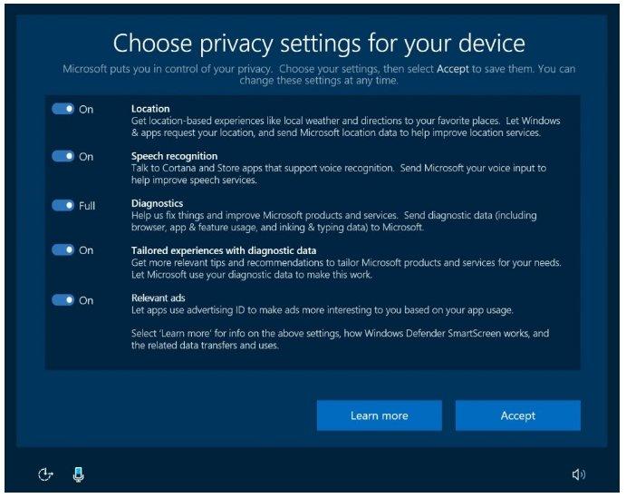 Microsoft - Windows 10 Configuración de Privacidad