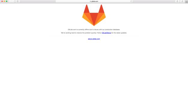 Cumple 12 horas sin servicio Gitlab.com por haber borrado manualmente un directorio en el servidor