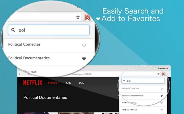 Netflix Categories - Extension Chrome