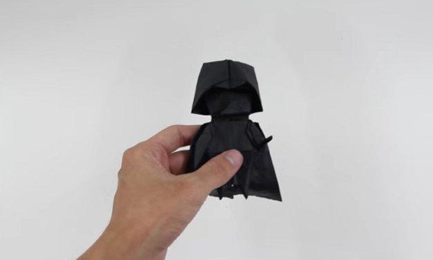 DIY: Construye un Origami de Darth Vader, Princesa Leia y un Stormtrooper