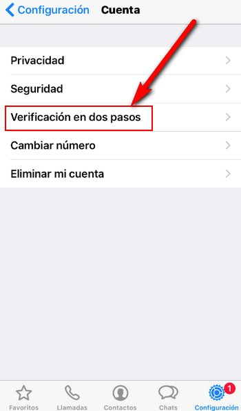 WhatsApp Verificación de dos Pasos