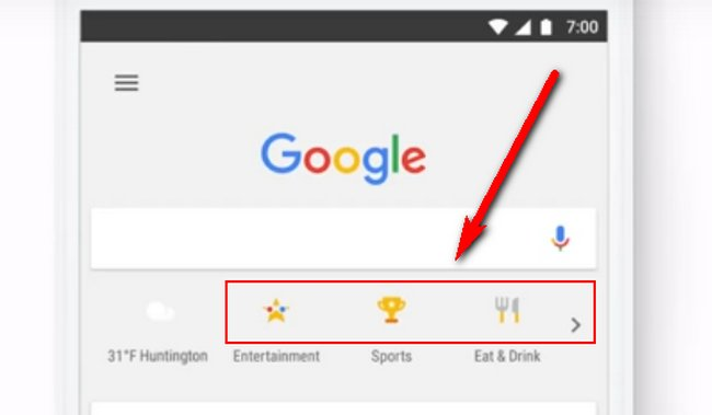 Google Tappable Shortcuts