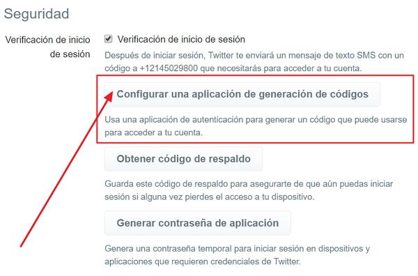 Twiiter Generar Código con Aplicación