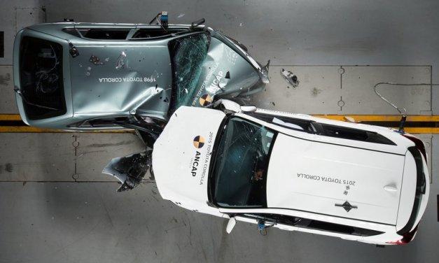 Un choque entre dos Toyota Corolla (1998 y 2015), dan una idea de los avances en sistemas de seguridad