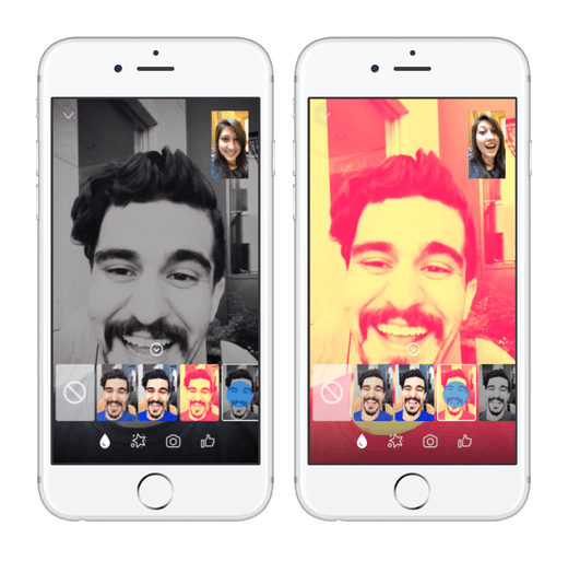 Facebook Messenger Vídeo Chats Filtros