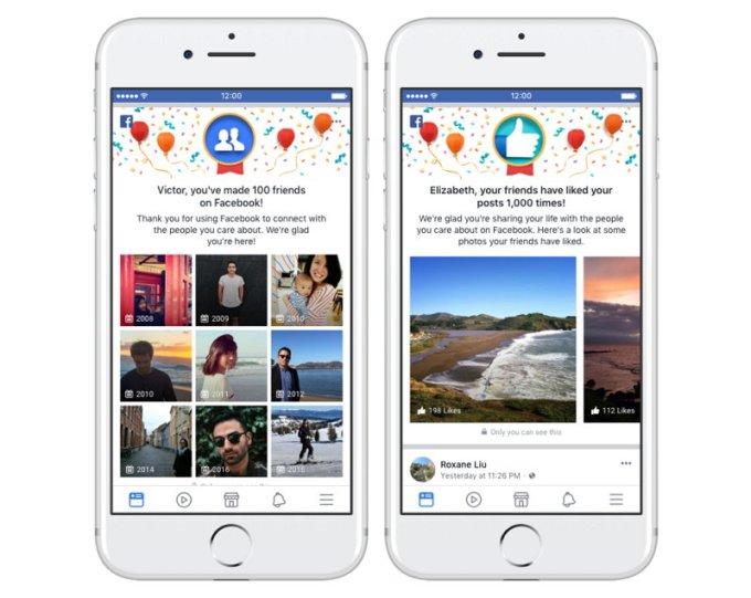 Facebook - Momentos - Amigos - Likes