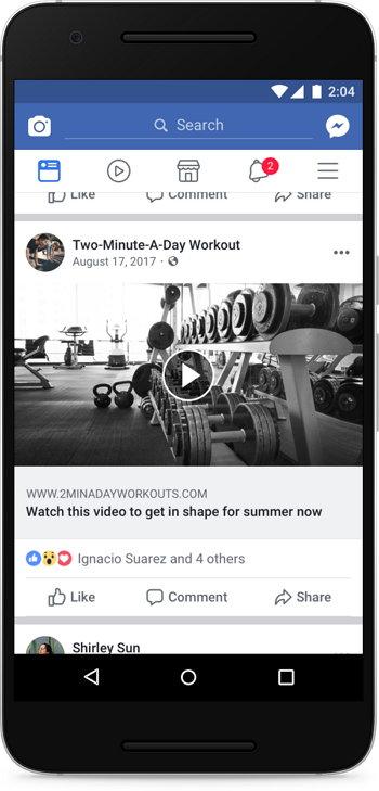 Facebook - Vídeo Clickbait