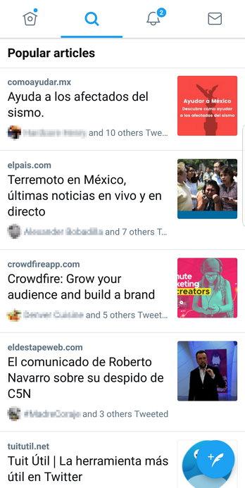 Twitter - Artículos Populares