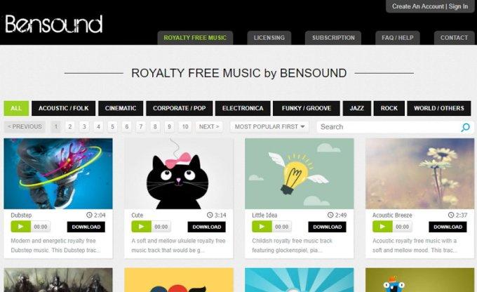 Bensound -Música Gratis