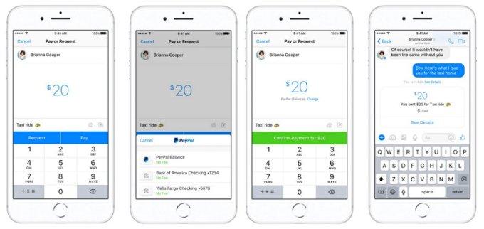 Facebok Messenger - Paypal