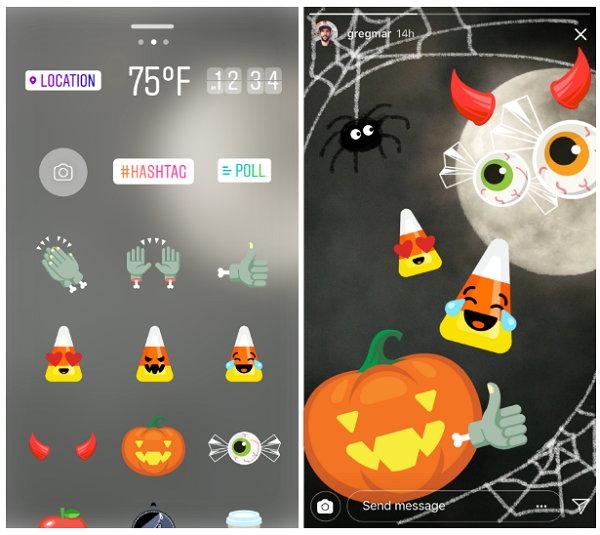 Instagram - Pegatinas de Halloween