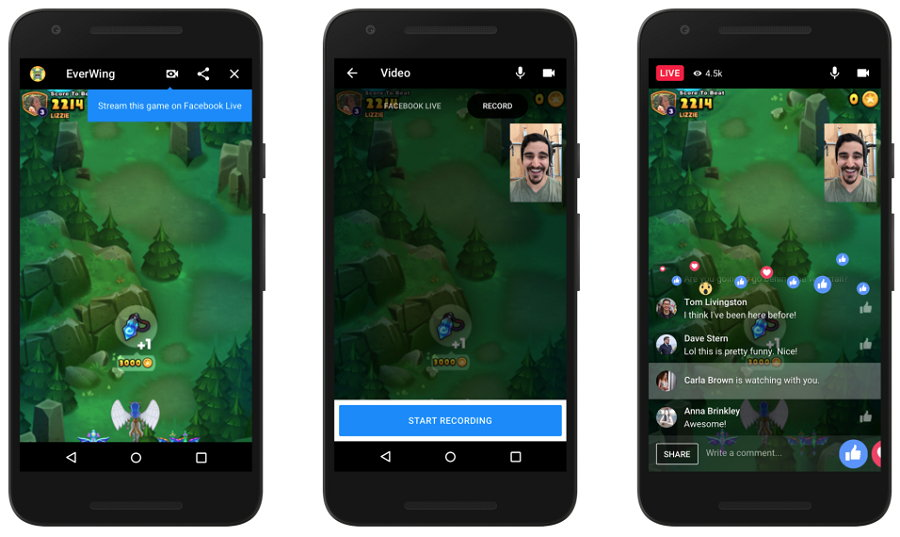 Facebook Messenger - Streaming de Juegos en Vivo