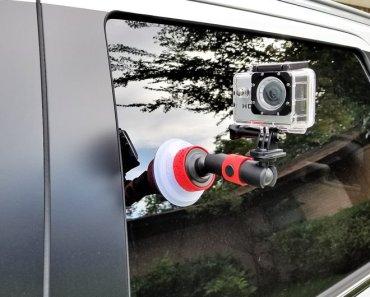 Review del soporte con copa de succión para cámaras de acción y smartphones, Joby Sution Cup and Locking Arm