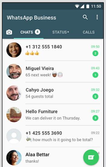 WhatsApp para Negocios - Chats