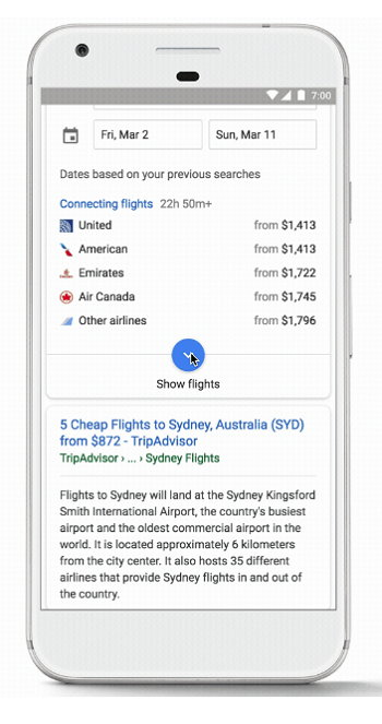 Google - Vuelos y Hoteles