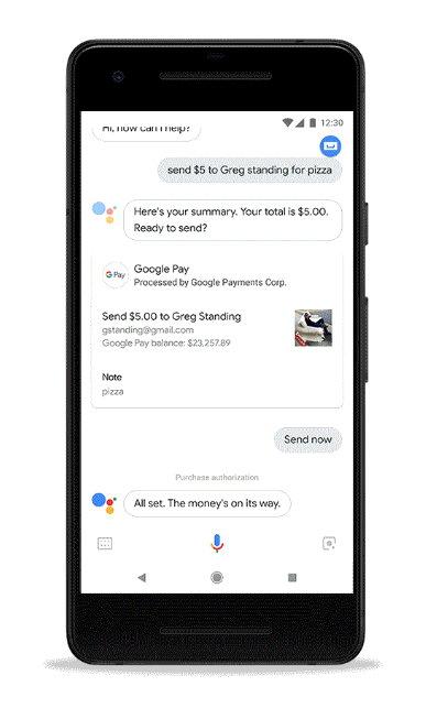 Google Assistant - Google Pay - Enviar Dinero