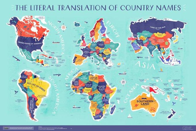 Traducción Literal de los Nombres de Países