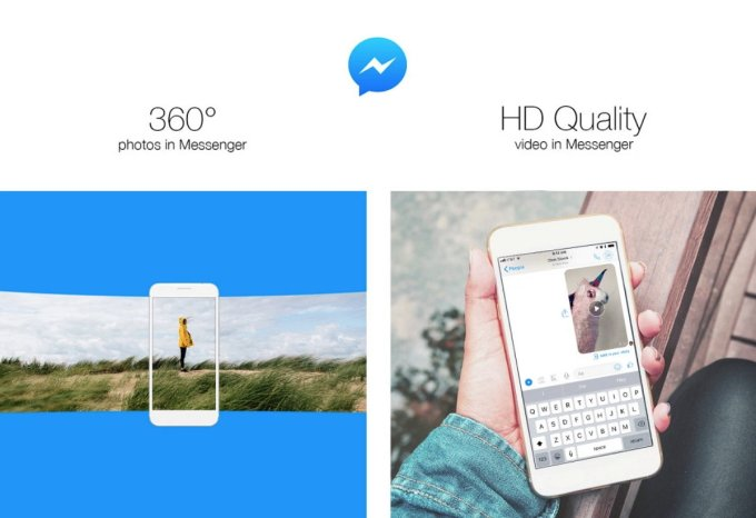 Facebook Messenger - Fotos de 360 grados - Vídeo HD