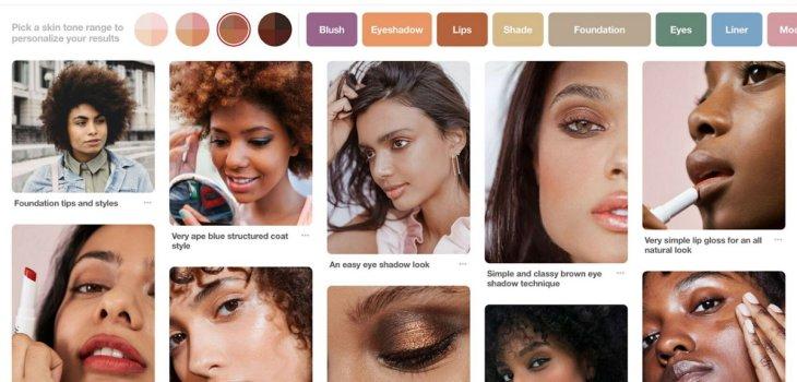 Pinterest - Filtro de Búsqueda de rango de tonos de piel