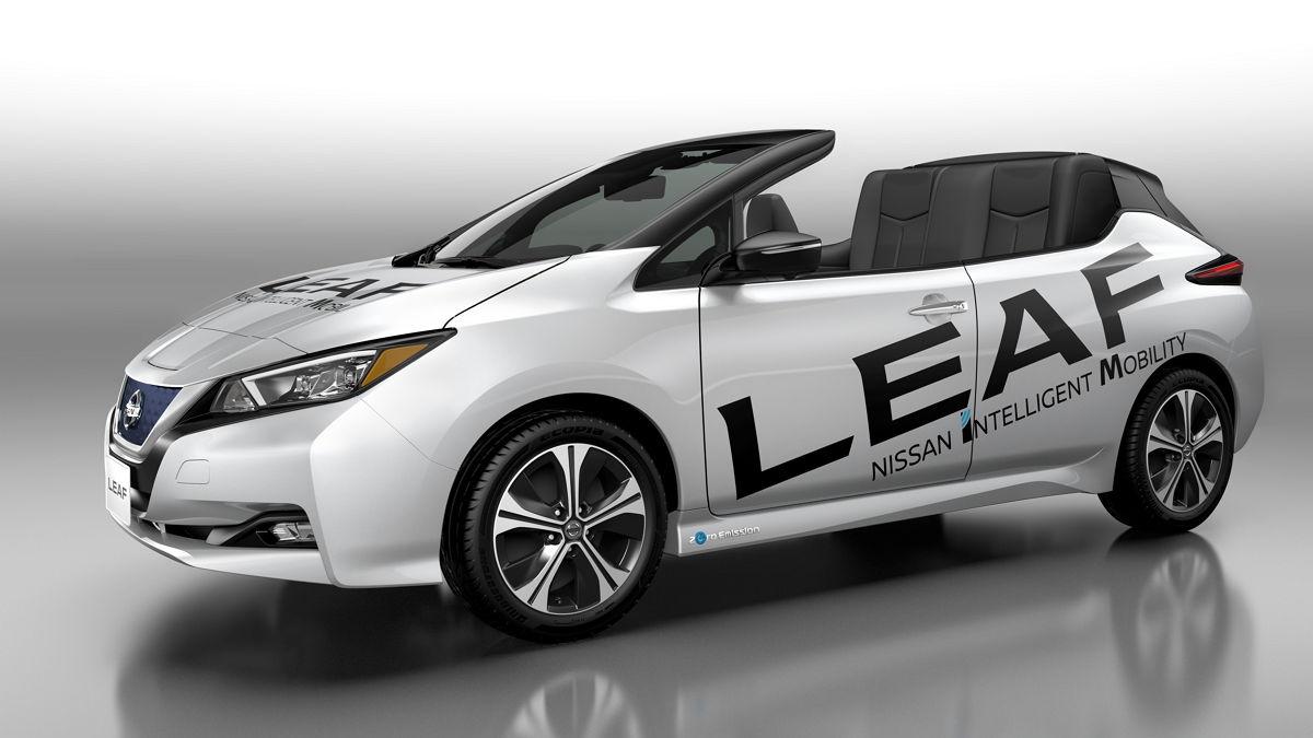 Nissan presenta una versión descapotable del eléctrico Leaf — Diseño atrevido
