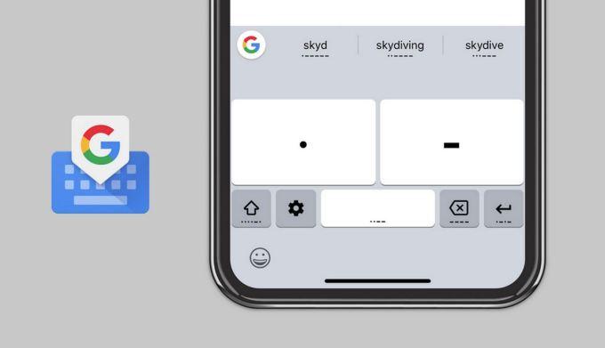 Google Gboard - Código Morse