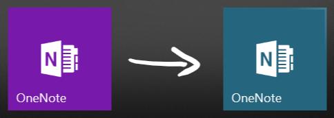 OneNote Windows 10 - Nuevo Mosaico Transparente Menú de Inicio Windows 10