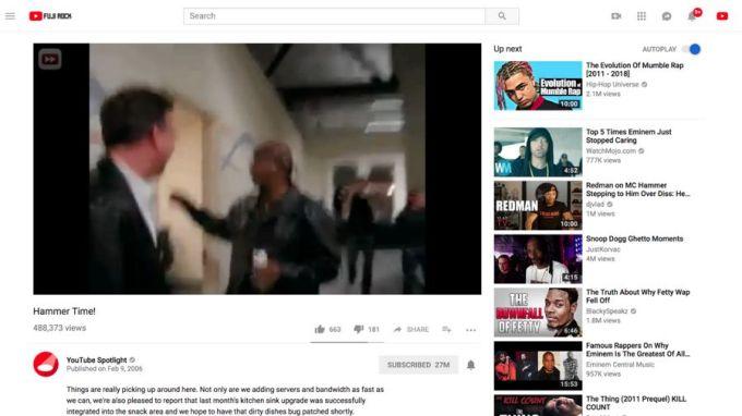 Youtube vídeo 4:3 antes