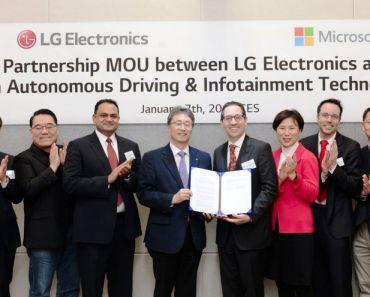 LG - Microsoft - Conducción Autónoma e Info Entretenimiento