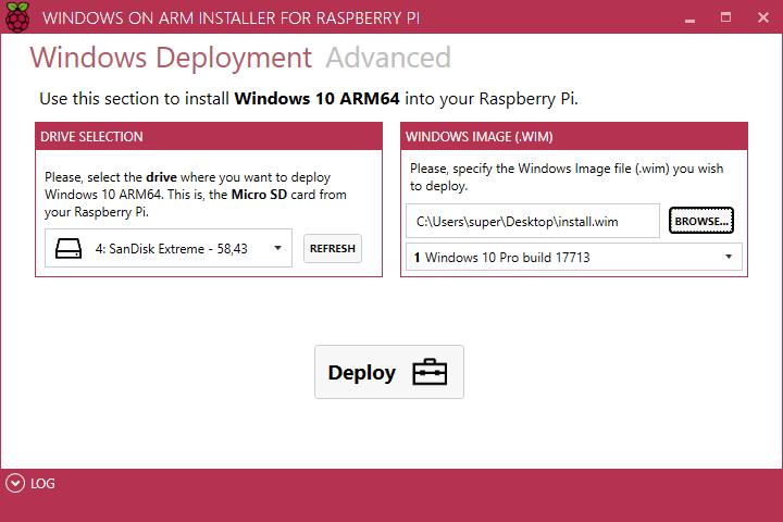 WoA Installer - Windows 10 ARM - Raspberry Pi 3
