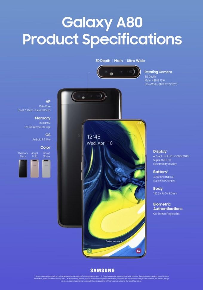 Samsung Galaxy A80 Especificaciones