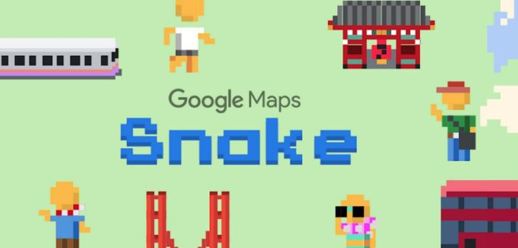 Juego de la Serpiente - Google Maps - April Fool's Day