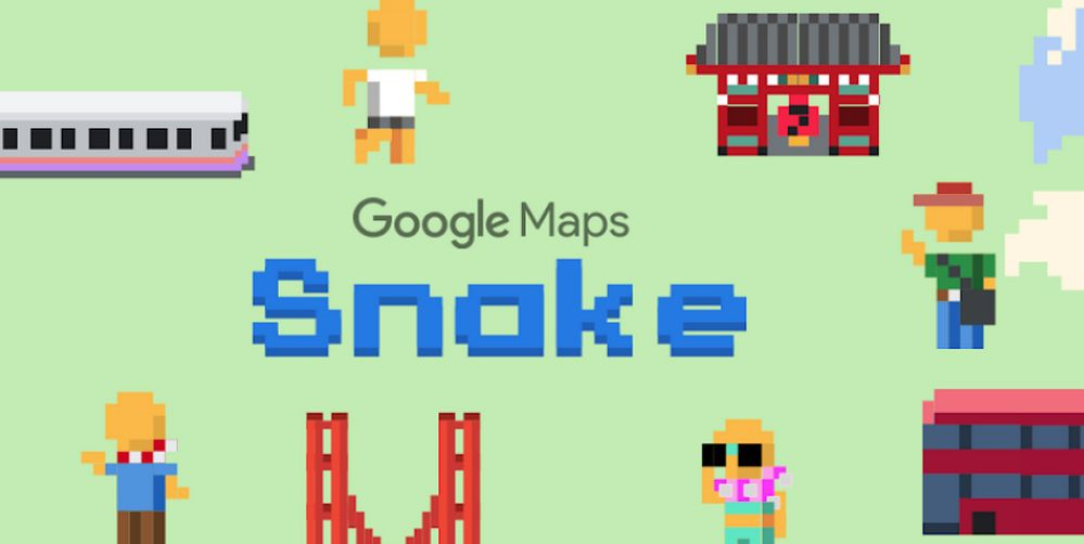 Juego de la Serpiente - Google Maps - April Fool's Day